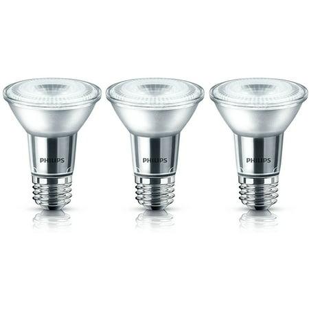 Philips LED 50W Equiv. PAR20 Daylight Bulb, 3 Pack, 467654, Glass Housing (Philips Par20 Led)