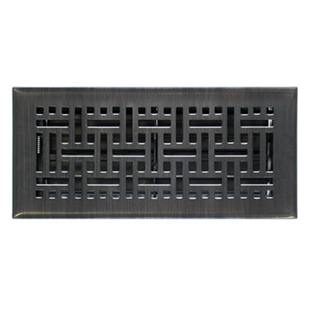 Accord Ventilation AMFRRBB212 Wicker Design Floor Register, Oil Rubbed Bronze...