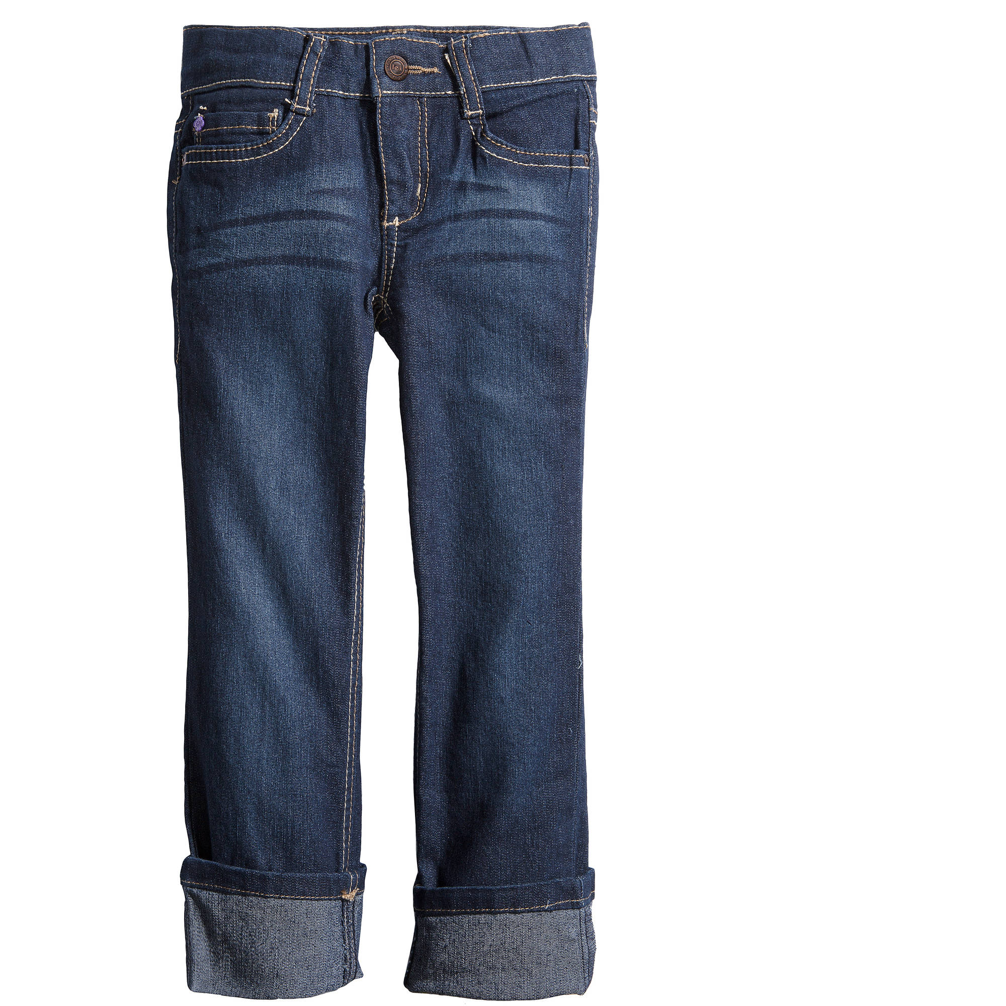 LEI Girls' Essential Straight Fit Jeans