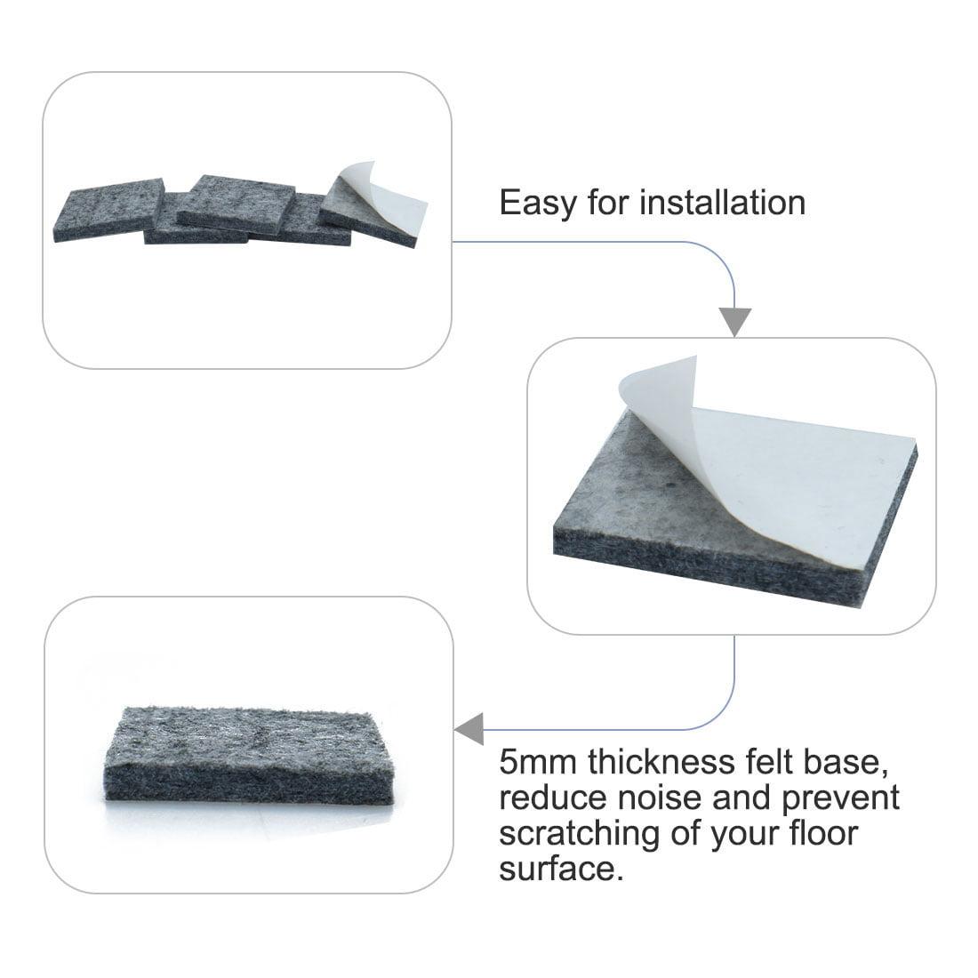 Felt Furniture Pad Self Adhesive Anti-scratch for Floor Protector Grey 86pcs - image 5 de 7