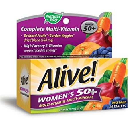 2 Pack   Alive  Natures Way Once Daily Womens 50  High Potency Multivitamin 50 Ea