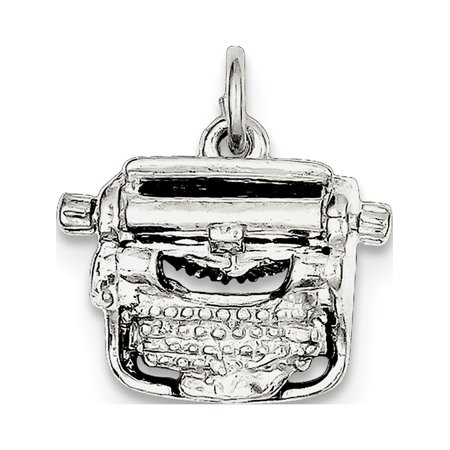 Leslies Fine Jewelry Designer 925 Sterling Silver Typewriter (18x16mm) Pendant Gift
