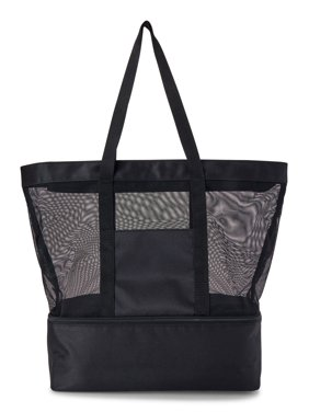 No Boundaries Mesh Zip Tote Bag with Insulated Cooler Compartment