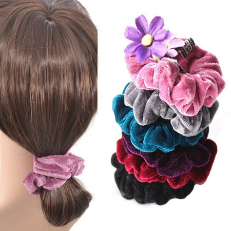 4 Pcs Women Elastic Accessories Hair Scrunchie Ponytail Holder Scrunchy - Ponytail Accessories