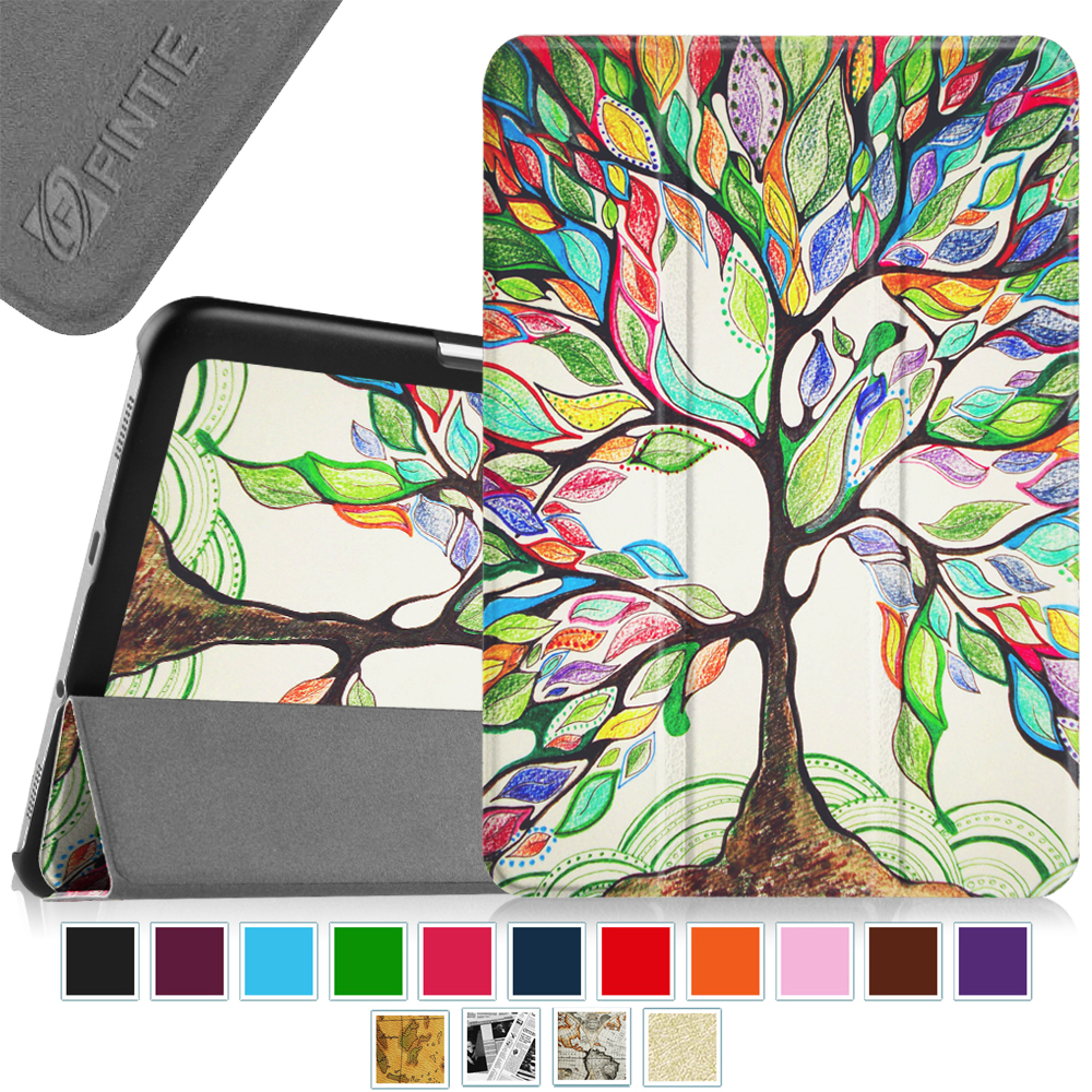 Fintie Samsung Galaxy Tab S2 8.0 / S2 Nook 8.0 Tablet Case - Slim Light Weight Standing Cover, Love Tree