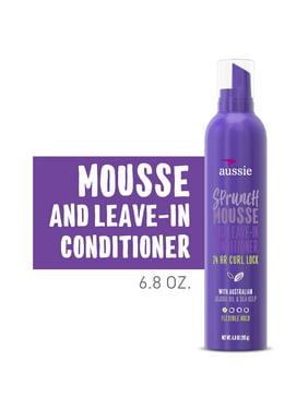 Aussie Sprunch Mousse & Leave-In Conditioner with Jojoba 6.8 Oz