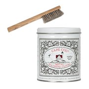 cape cod metal polish tin and horsehair detail brush