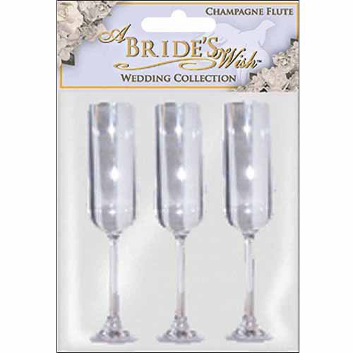 """Champagne Flute, 5"""", 3-Pack, Clear Acrylic"""