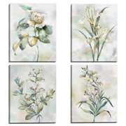 Botanical Whispers I, II, III, IV by Studio Arts Set of 4 Canvas Prints