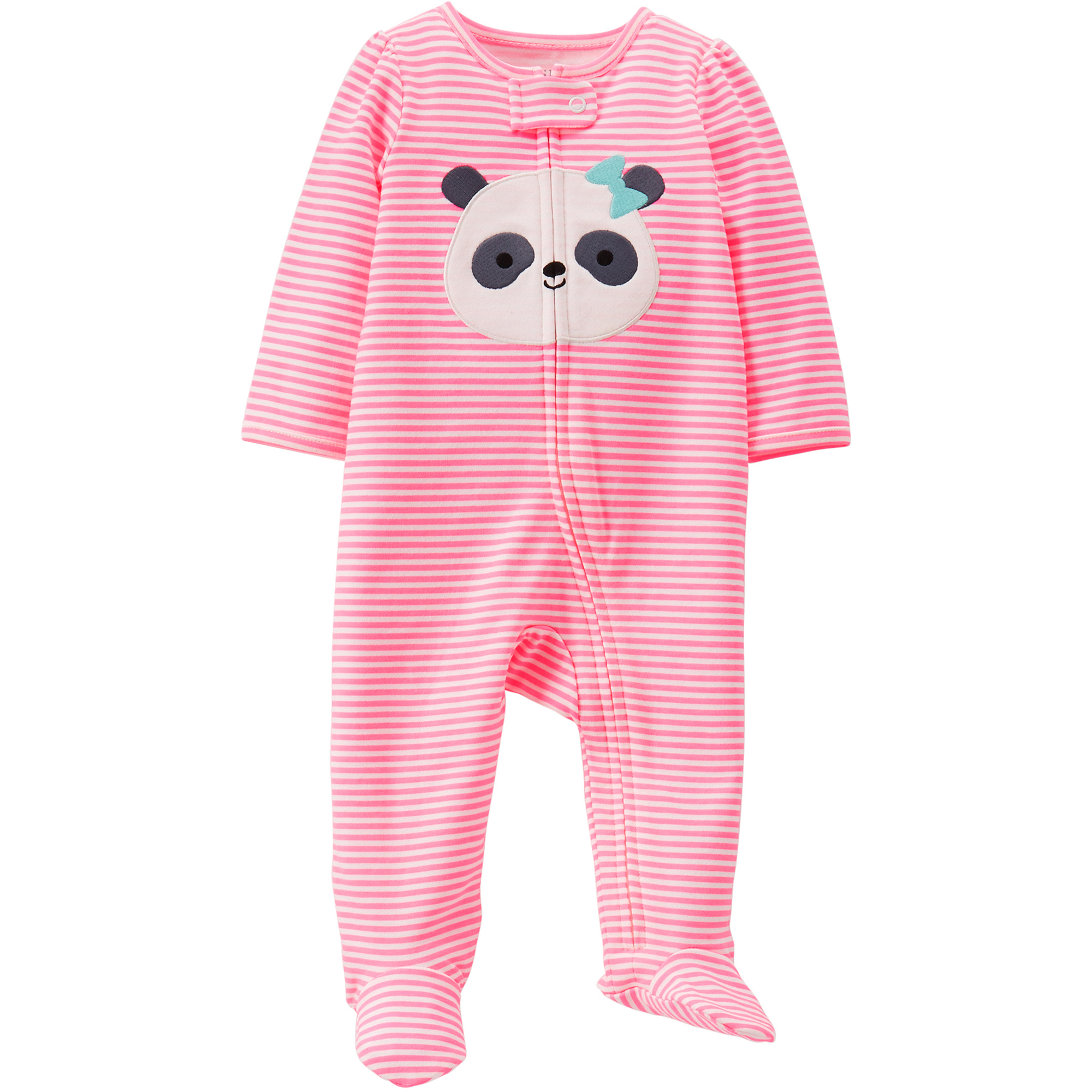 Child of Mine by Carter's Newborn Girl Cotton Zip Up Sleep n' Play