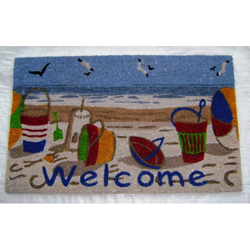 Geo Crafts, Inc Welcome Beach Doormat