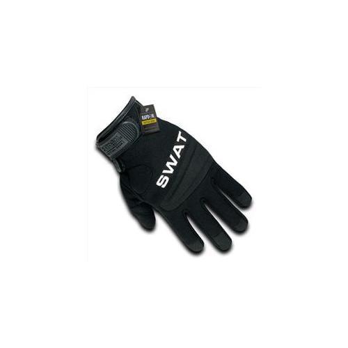 RapDom T29-SWT-BLK-02 Digital Leather Glove - Swat, Black, Medium
