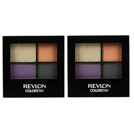 Revlon Colorstay 16 Hour Eye Shadow Quad, #503 Flirtatious (Pack of 2) + Cat Line Makeup Tutorial