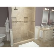 Tile Redi Single Threshold Shower Base with Bench and Drain Grate