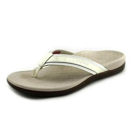 bb7aecca168 Vionic - Vionic by Orthaheel Tide II White Leather   Mesh Thong Sandals -  Walmart.com
