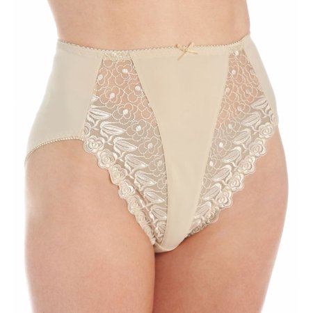 92b41d3471d Valmont - Women's Valmont 2320 Embroidered Lace and Satin Hi-Cut Brief  Panties - Walmart.com