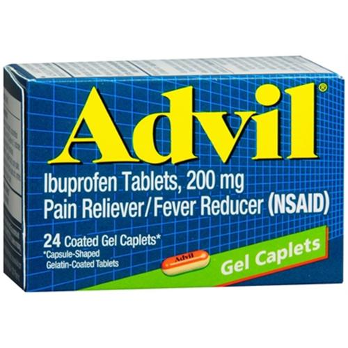 Advil Gel Caplets 24 Caplets (Pack of 3)