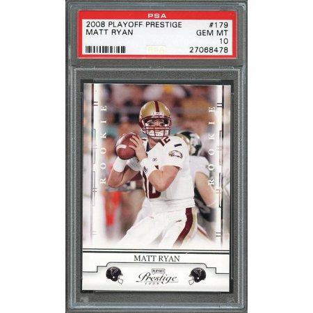 2008 Playoff Prestige  179 Matt Ryan Atlanta Falcons Rookie Card Psa 10