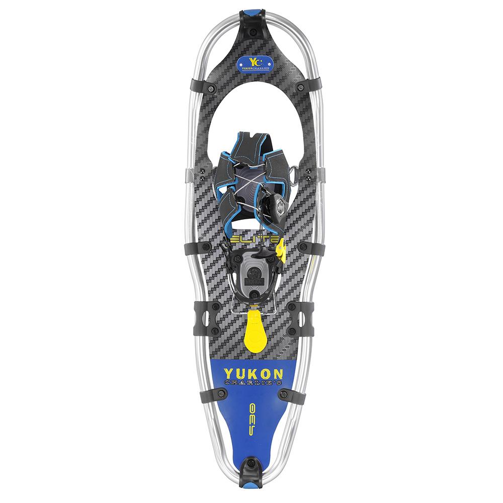 Yukon Charlie's Elite Spin Snowshoes 9 X 30 Carbon Blue by Yukon Charlies