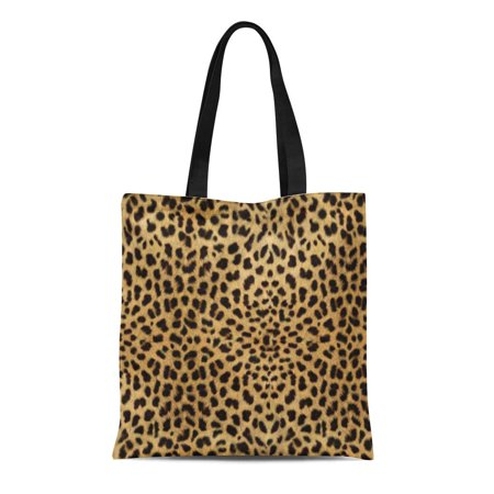 ASHLEIGH Canvas Tote Bag Spots Leopard Skin Pattern Cheetah Wild Cat Reusable Handbag Shoulder Grocery Shopping Bags