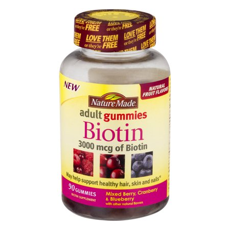 Nature Made Adult Gummies Biotin Mixed Berry, Cranberry & Blueberry ...