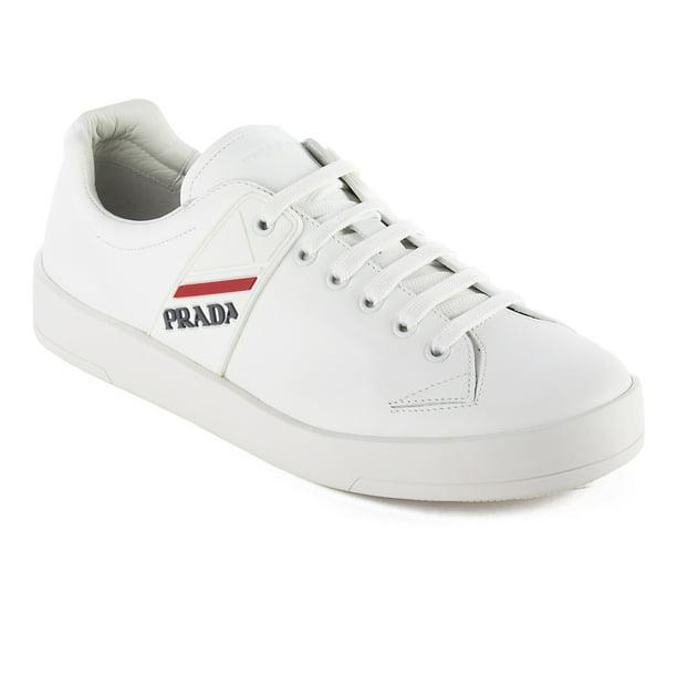 Prada Prada Men's Leather Sneaker Shoes White Walmart