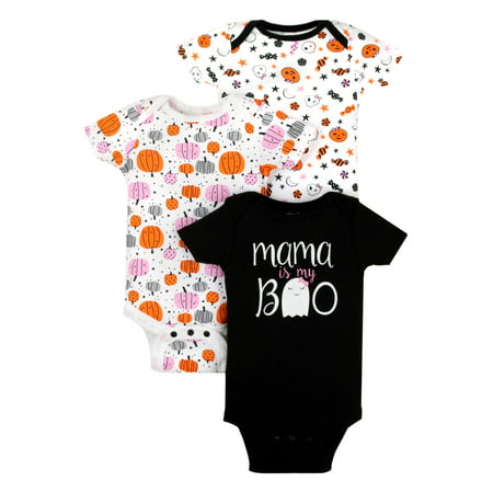 Halloween Bodysuits, 3pk (Baby Girls) - Halloween Art Projects For Babies