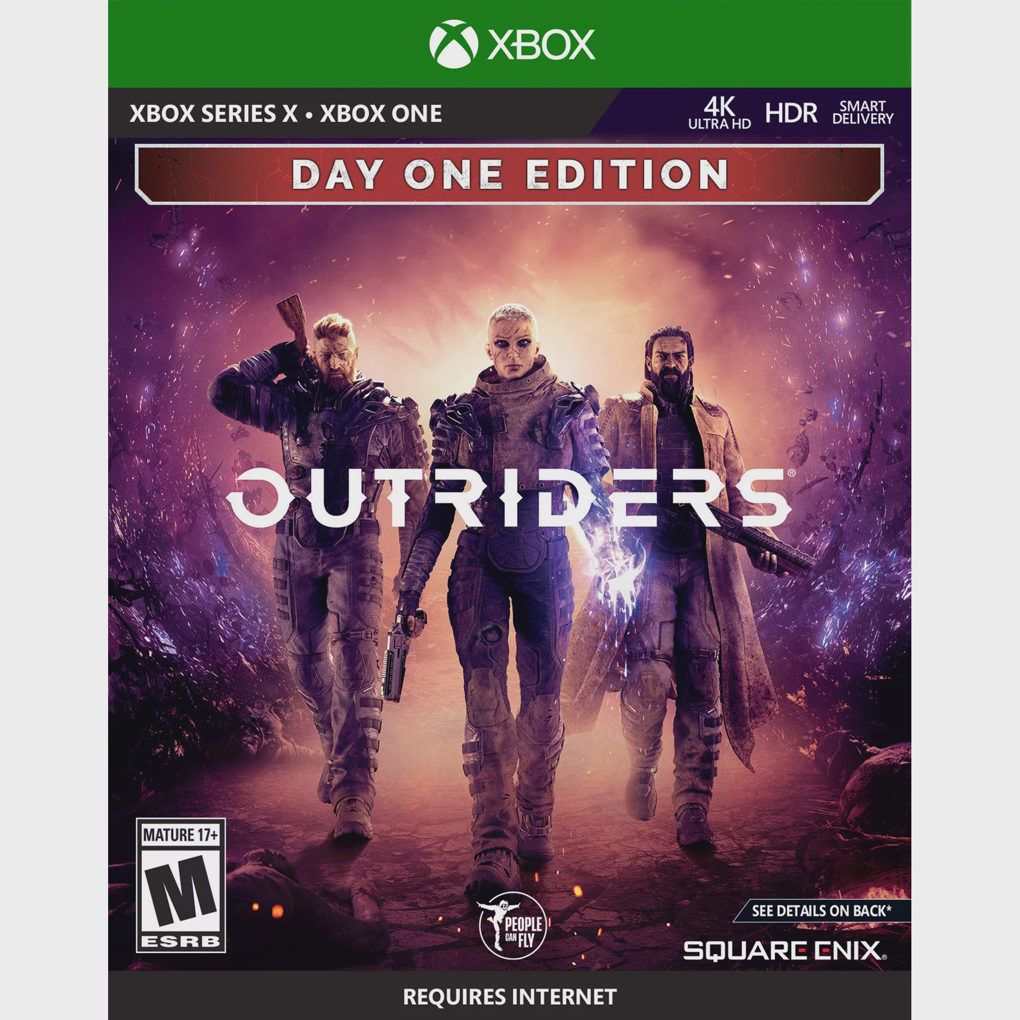 Outriders Day 1 Edition, Square Enix, Xbox Series X, Xbox One, [Physical], 662248923147