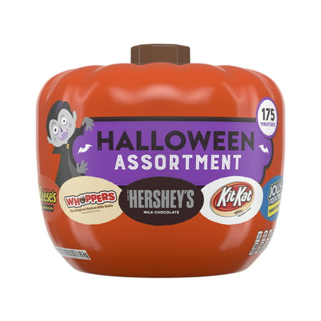 Hershey's, Halloween Candy Assortment Pumpkin Bowl, 175 Ct for $<!---->