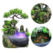 LYUMO Waterfall Desktop Fountain With Color Changing Led Lighting Zen Meditation Waterfall