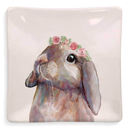 GreenBox - Decorative Dish - Bunny w/ Flower Crown - 4.5