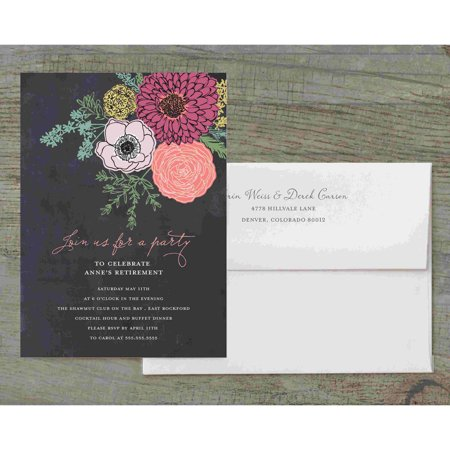 Botanical Posy Deluxe Party Invites](Halloween Party Invites Wording)