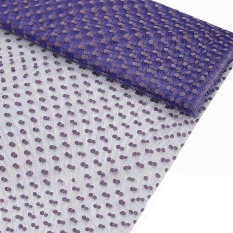 """Dots The Way I Like It Tulle - Purple 60""""x10yards"""
