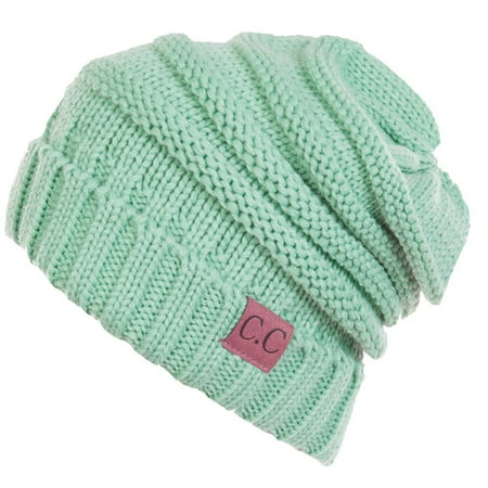 (C.C Women's Thick Soft Knit Beanie Cap Hat)