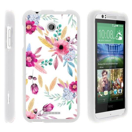 TurtleArmor ® | For HTC Desire 510 [Slim Duo] Two Piece Hard Cover Slim Snap On Case - Flower 5