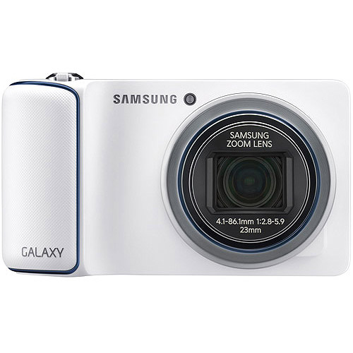 Samsung White EK-GC110ZWAXAR Galaxy WiFi Camera with 16.3 Megapixels and 21x Optcial Zoom