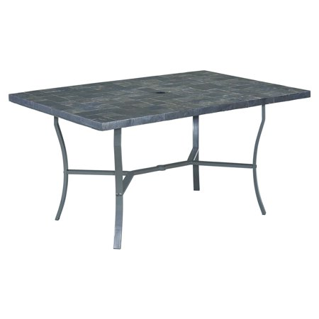 Home Styles Cumberland Stone In Rectangular Slate Tile Top Patio - Slate top patio dining table