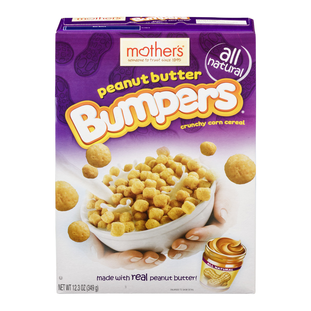 Mother's Bumpers Crunch Corn Cereal Peanut Butter, 12.3 OZ
