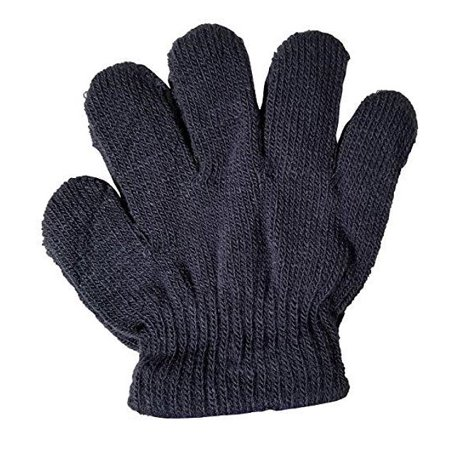 - Escape by Polar Extreme Unisex Little Kids Gray Solid Color Knit Winter Gloves
