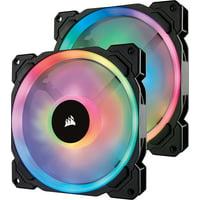 Corsair LL Series LL140 RGB 140mm Dual Light Loop RGB LED PWM Fan 2 Fan Pack with Lighting Node Pro - CO-9050074-WW