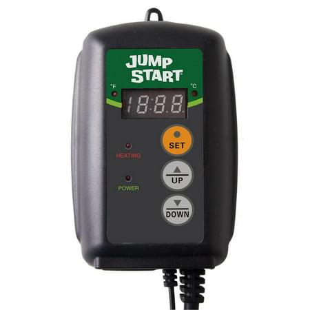 Hydrofarm Hydroponic Seedling Heat Mat Digital Temperature Controller MTPRTC