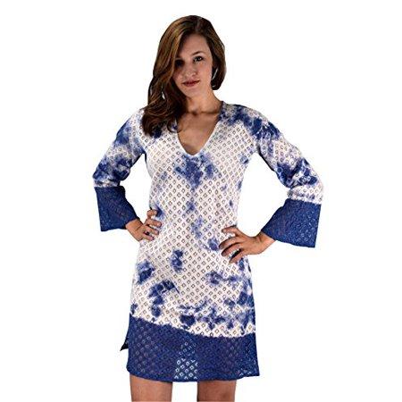 2170980898 Peach Couture Summer Womens Lace Beach Bikini Cover-up Swimwear Beachwear  Tunic Blue XS Small ...