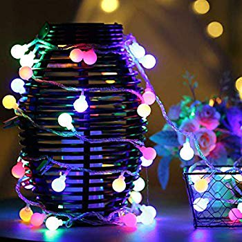 Globe String Lights, 32.8ft 100 LED Waterproof Color Changing Plug In Ball Starry Fairy Lights for Outdoor Indoor Home Garden Bedroom Patio Wedding Party Fence Christmas Tree Gift (Multi-Color) ()