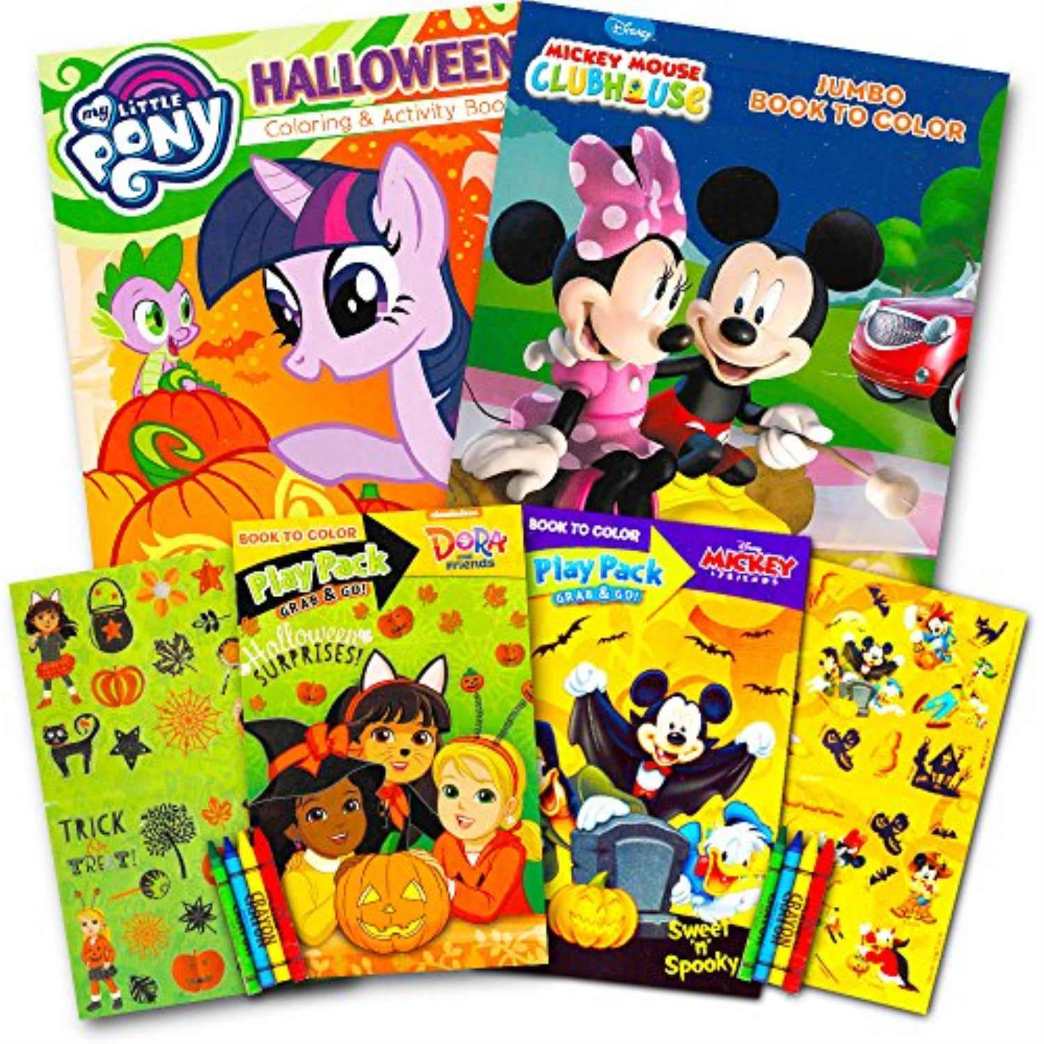- Disney Halloween Coloring Book Super Set For Kids Toddlers -- 3 Books  Featuring Minnie Mouse, Mickey Mouse, My Little Pony And M - Walmart.com -  Walmart.com