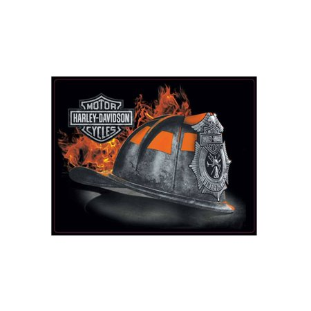 Firefighter Plaque (Harley-Davidson Embossed Firefighter Helmet Tin Sign, 17 x 13 inches 2011251, Harley Davidson)