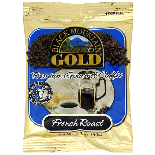 Black Mountain Gold French Roast Gourmet Coffee, 1.4 oz (Pack of 20)