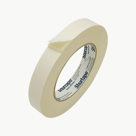 - Shurtape DF-65 Double Faced Flat Paper Tape: 3/4 in. x 36 yds. (Natural)