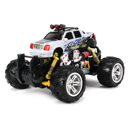 Graffiti Cadillac Escalade Ext Rc Off Road Monster Truck 1 18 Scale 4 Wheel Drive Rtr  Working Hinged Spring Suspension  Perform Various Drifts  Colors May Vary