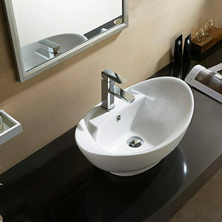 Topbath oval bathroom vessel sink vanity basin pop up - Walmart bathroom vanities with sink ...