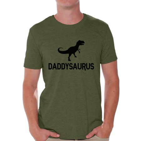 Awkward Styles Men's Daddysaurus Funny Graphic T-shirt Tops Black Daddy Saurus Gift for Dad